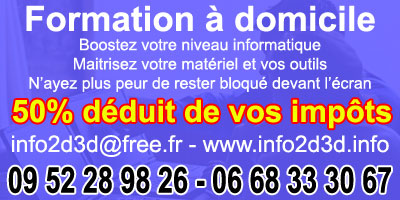 info2d3d formation informatique à domicile reduction impot 50%